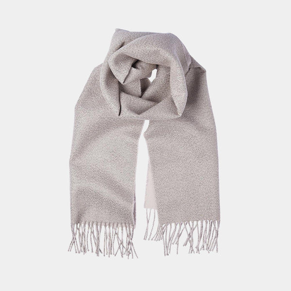 Cashmere Scarf ANTORINI in Gleaming Craem with Gold Thread-ANTORINI®
