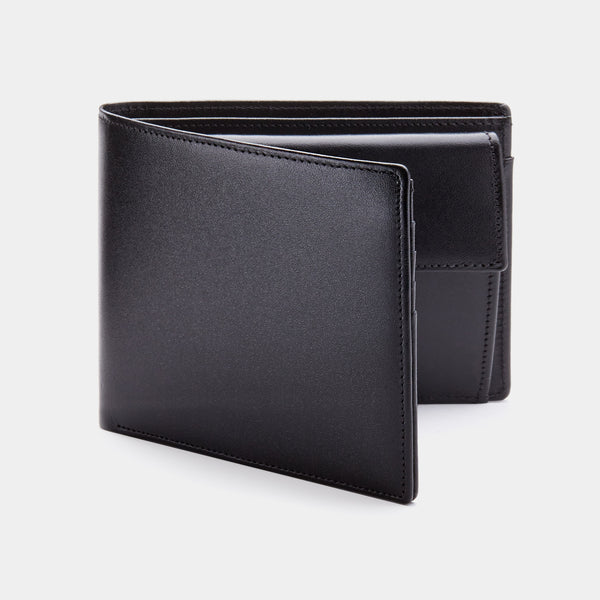 Men´s Coin Wallet ANTORINI in Black Satin-ANTORINI®
