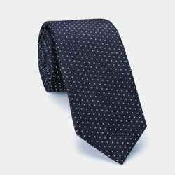 Silk Lucky Tie in Blue Emerald* with Coral Charm-ANTORINI®