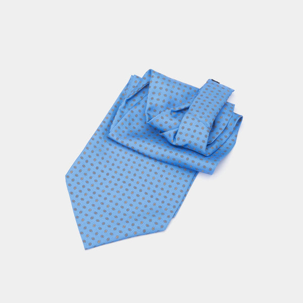 Silk Ascot Tie, Light Blue-ANTORINI®
