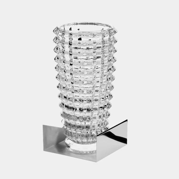 Glass Vase Sunlight, Silver-ANTORINI®