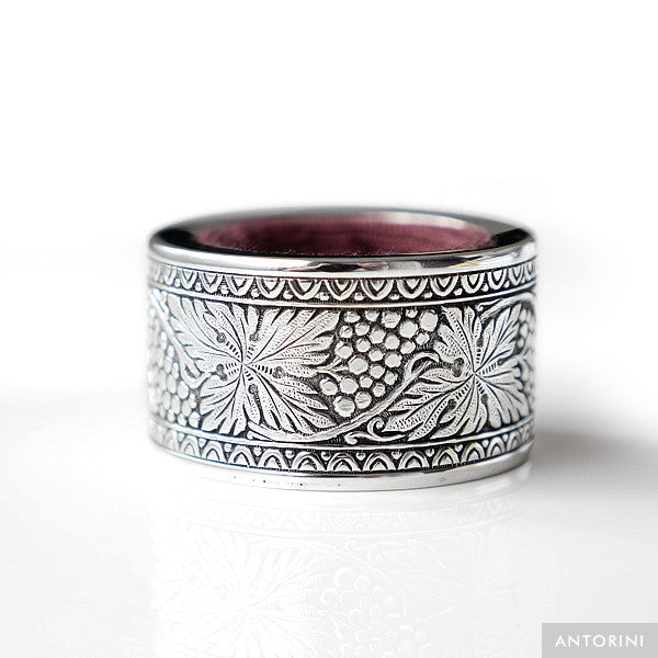 Wine Circle, silver plated