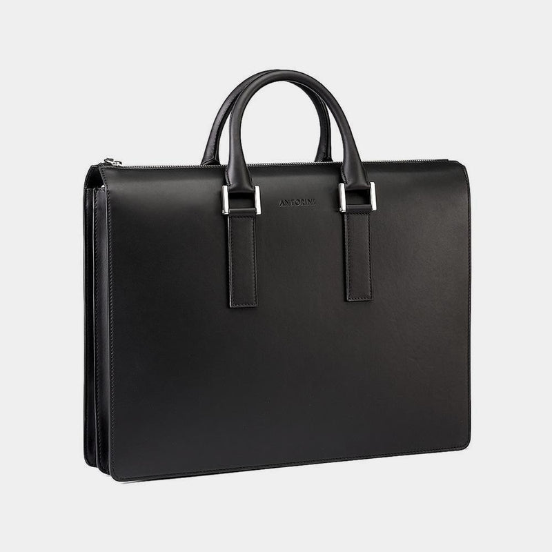 Leather Briefcase in Black