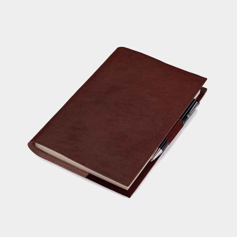 Leather Refillable Diary in Chocolate-ANTORINI®