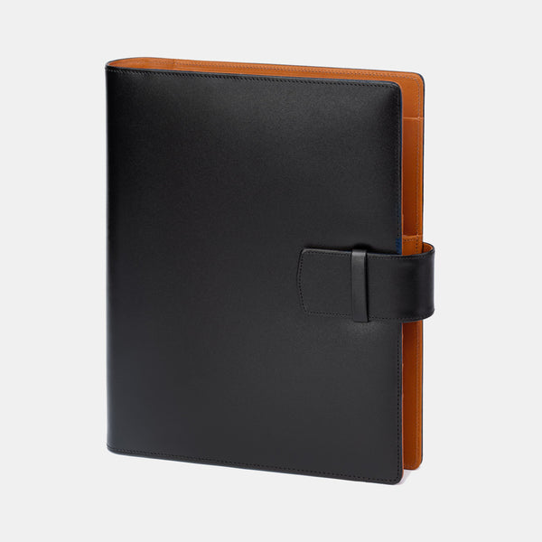 Leather Manager A5 Agenda in Black and Cognac