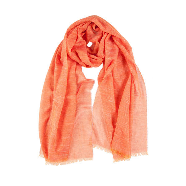 Light Semi Scarf in Orange Tones