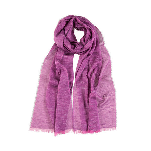 Light Semi Scarf in Purple Tones