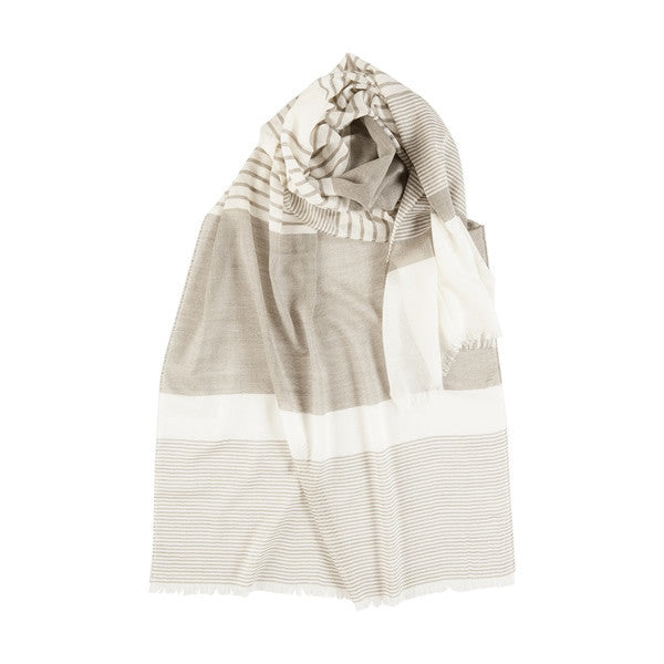Light Wool Scarf in Grey