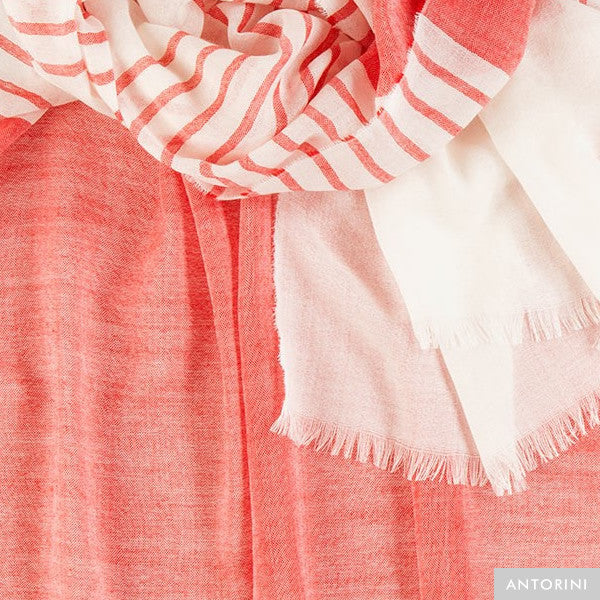 Light Wool Scarf in Red