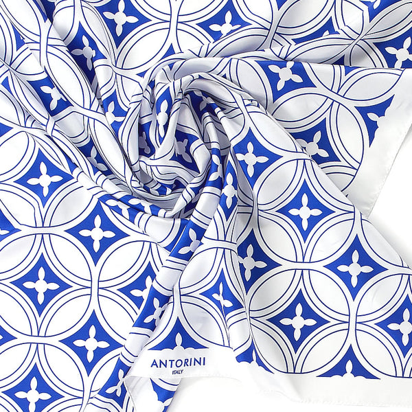 Geometric Luxury Silk Scarf XVIII
