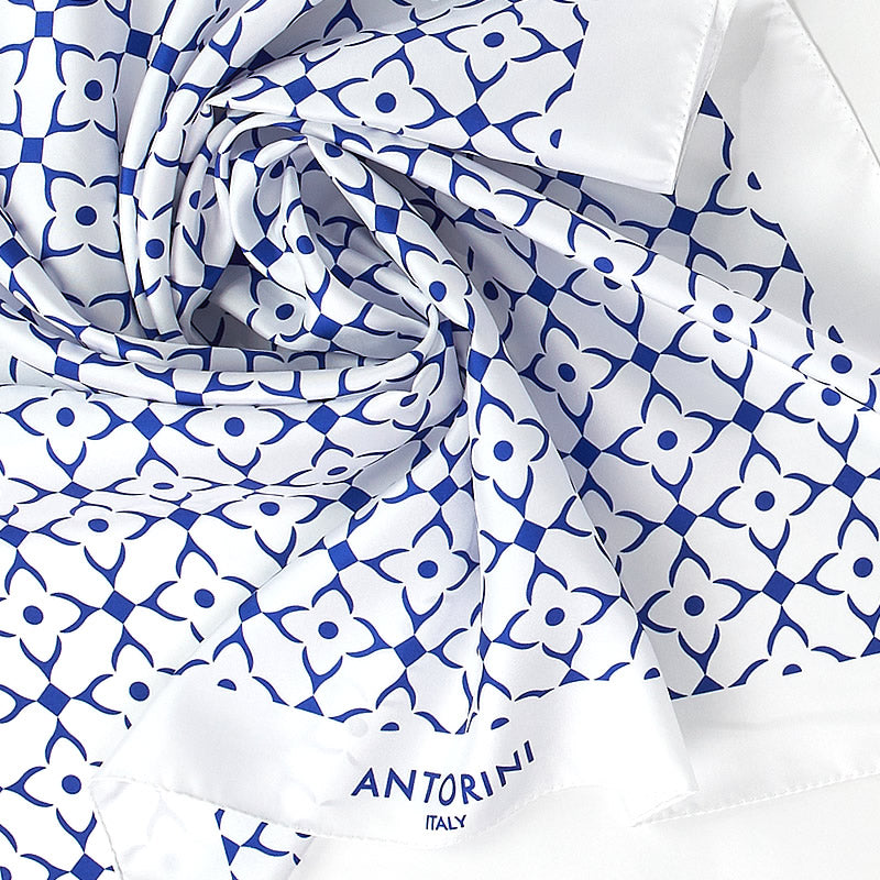 Geometric Luxury Silk Scarf XIII-ANTORINI®