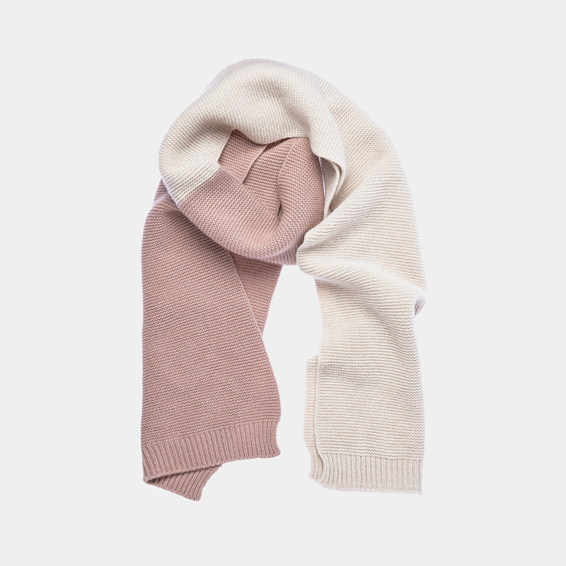 Cashmere Knitted Scarf in Nude and Beige-ANTORINI®