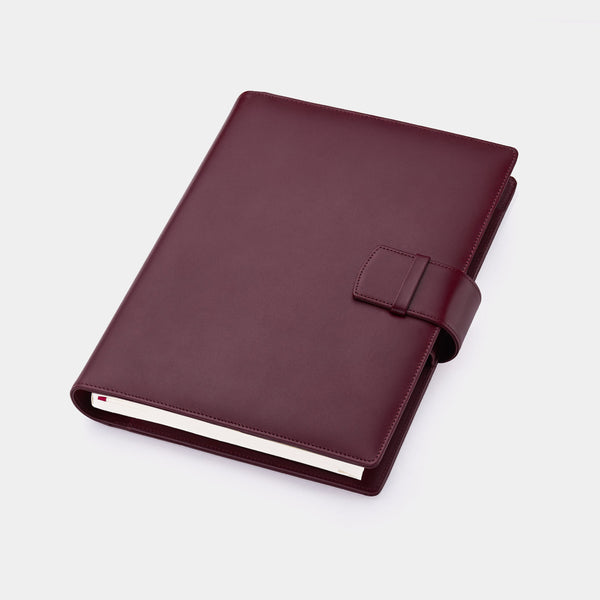 Multifunctional Leather A5 Journal/Diary and Note Pad in Burgundy-ANTORINI®