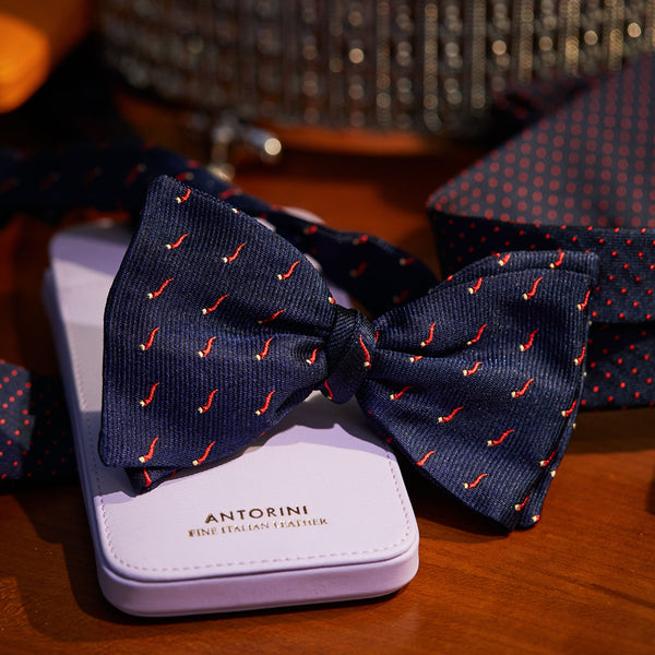 Smart Silk Bow Tie Corno - Pepperoncino-ANTORINI®