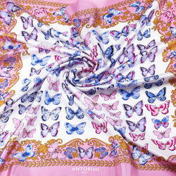 Silk Scarf Butterflies in Pink-ANTORINI®