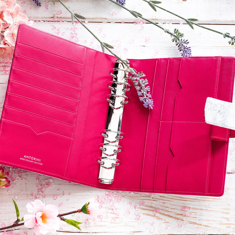 A6 Leather Ring Binder Planner 6 Ring