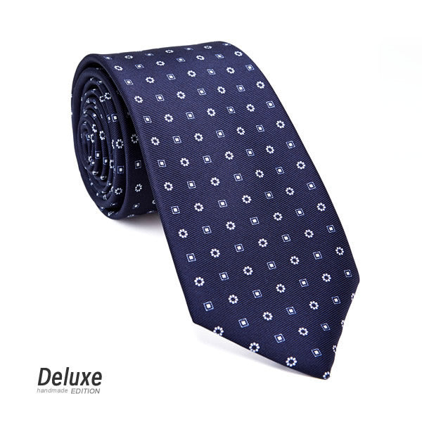 Italian Silk Tie in Blue and White