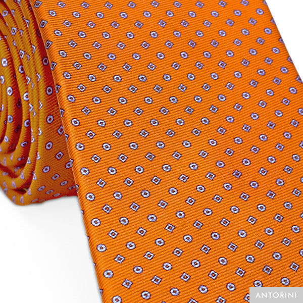 Italian Silk Tie in Orange
