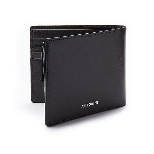 Men´s Coin Wallet ANTORINI in Black Satin