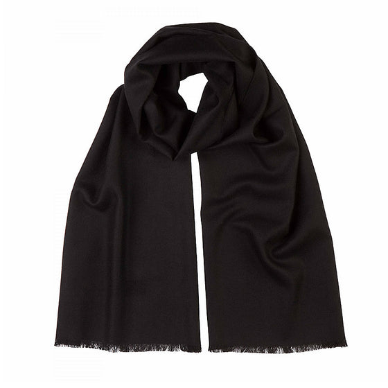 Merino Wool Scarf in Black