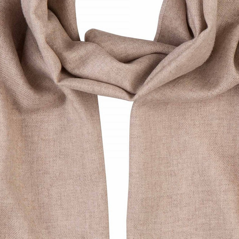 Merino Wool Scarf in Beige