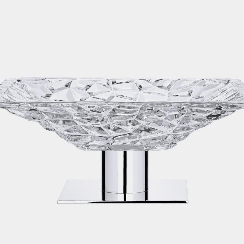 Glass Fruit Bowl ICEBERG, silver plated-ANTORINI®