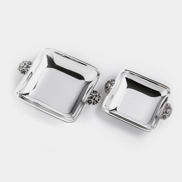 Set of Square Bowls Rosa, silver plated-ANTORINI®