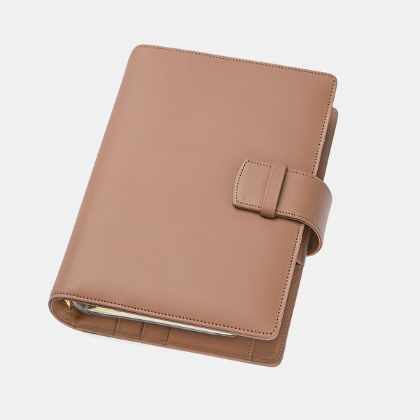 Leather Manager A6 Agenda in Mocca