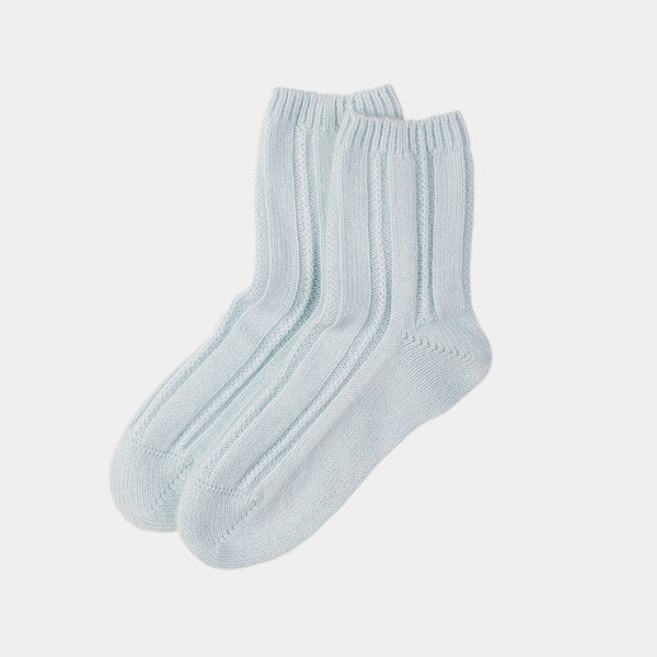 Women's Cashmere Socks, Blue-ANTORINI®