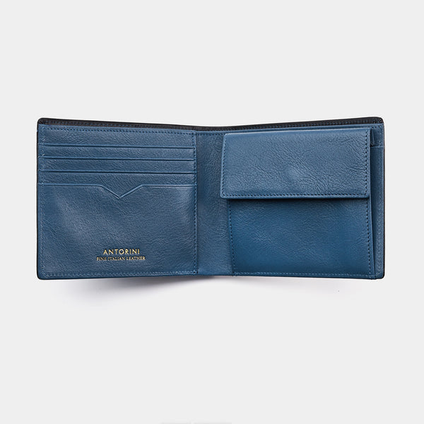 Men's Wallet ANTORINI in Black and Blue-ANTORINI®