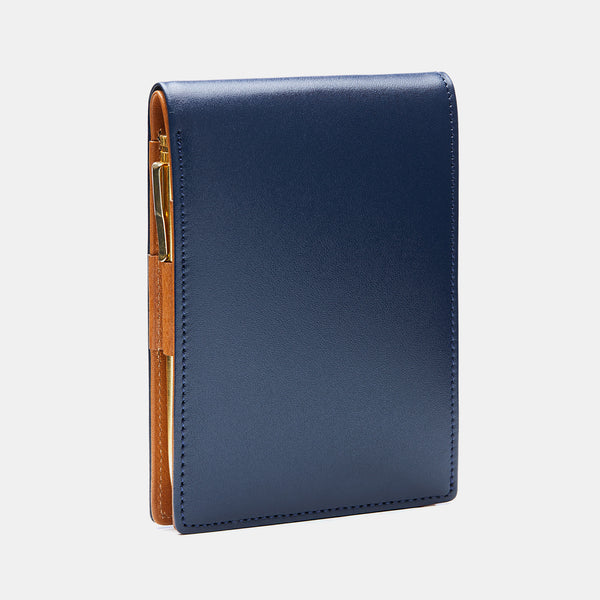 Pocket Memo Pad in Navy and Cognac-ANTORINI®