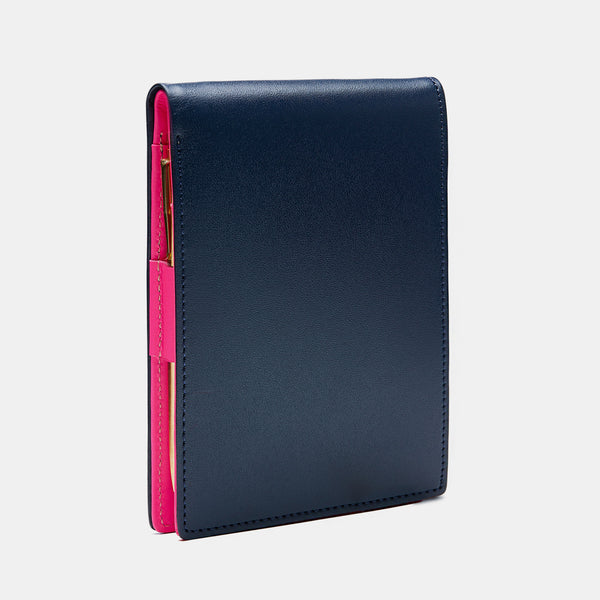 Pocket Notepad in Dark Blue and Neon Pink-ANTORINI®