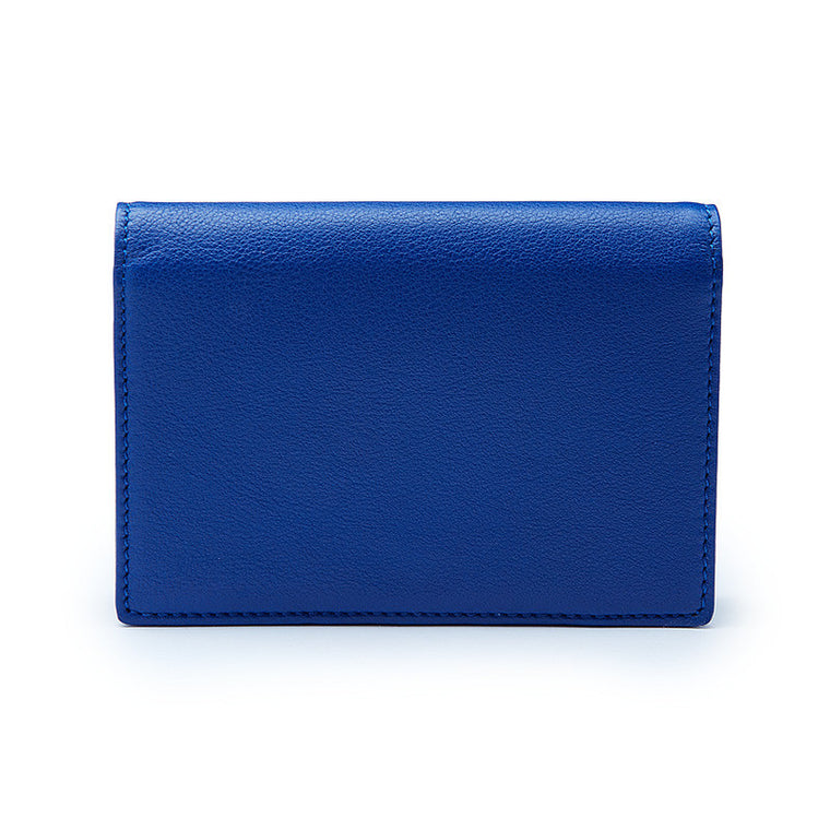 Credit & Business Holder in Blue Leather