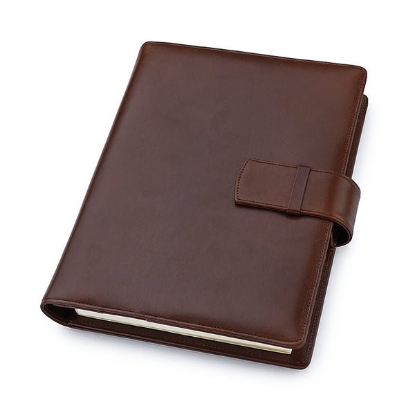 Multifunctional Leather A5 Journal/Diary and Note Pad in Venice Brown