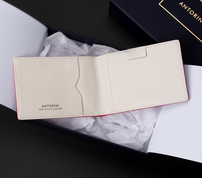 Pocket Memo Pad in Pink Lizard and Ivory-ANTORINI®