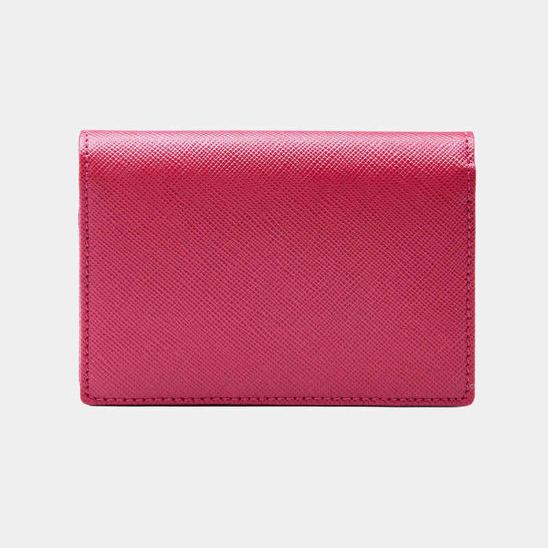 Credit & Business Holder in Fuchsia Saffiano-ANTORINI®