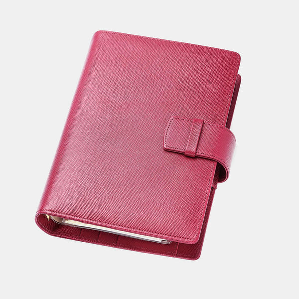 Leather A6 Agenda in Old Pink Saffiano-ANTORINI®