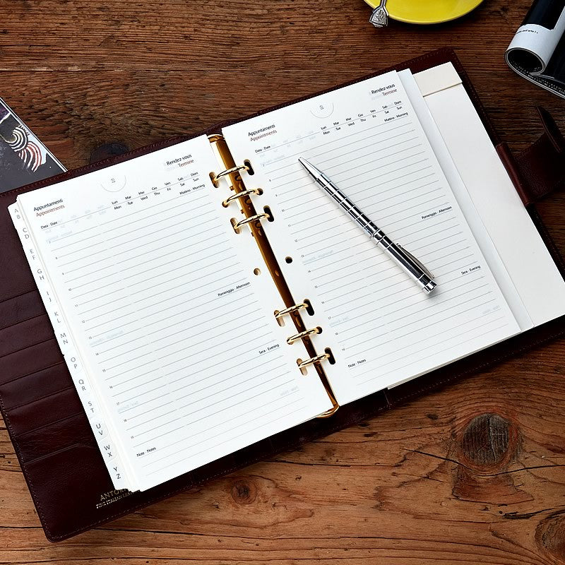 Leather Manager A5 Organiser in Venice Brown