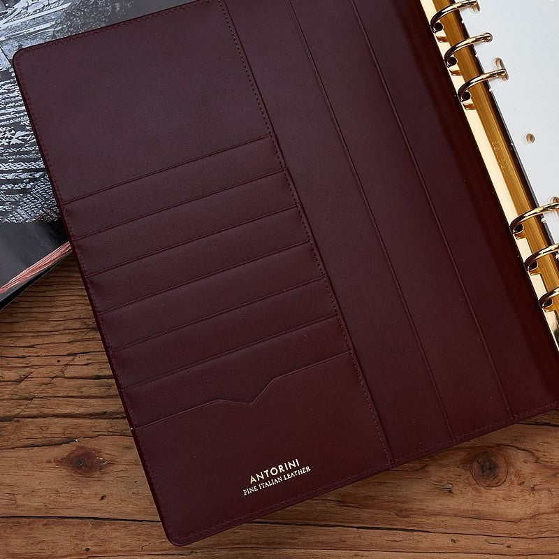 Leather Manager A5 Organiser in Burgundy, 2019