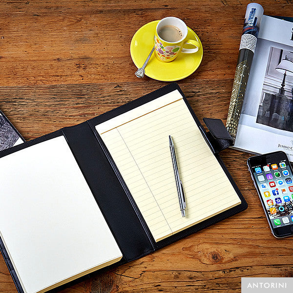 Multifunctional Leather A5 Journal/Diary and Note Pad in Terre