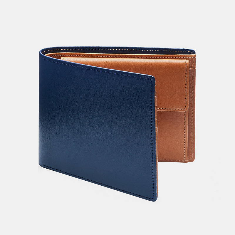 Men's Wallet ANTORINI in Navy and Cognac-ANTORINI®