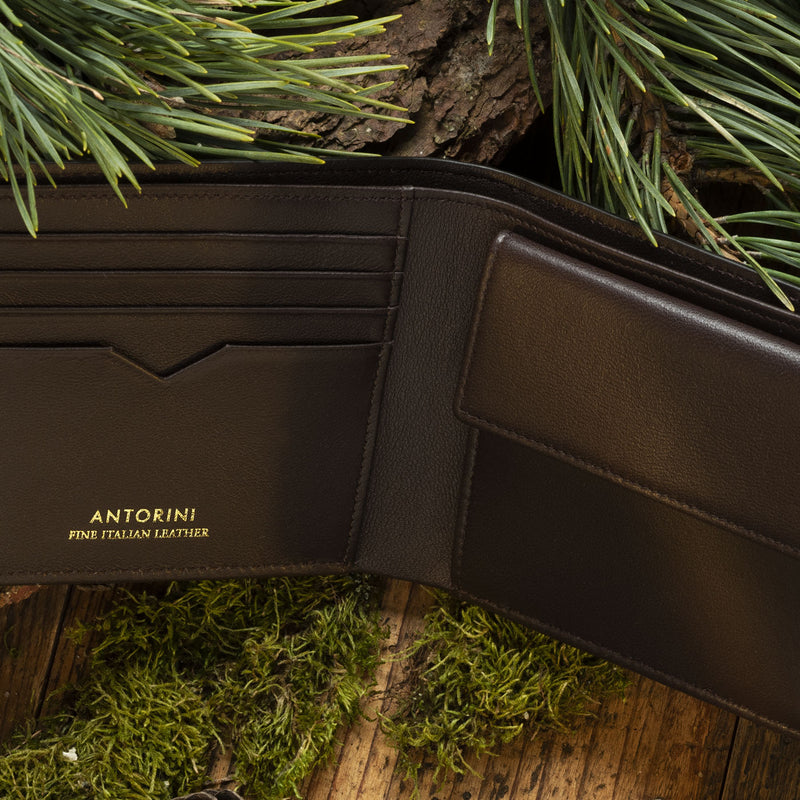 Men's Bison leather wallet ANTORINI Nature Collection, Brown-ANTORINI®