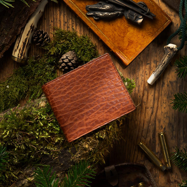 Men's Bison leather wallet ANTORINI Nature Collection, Light Brown-ANTORINI®