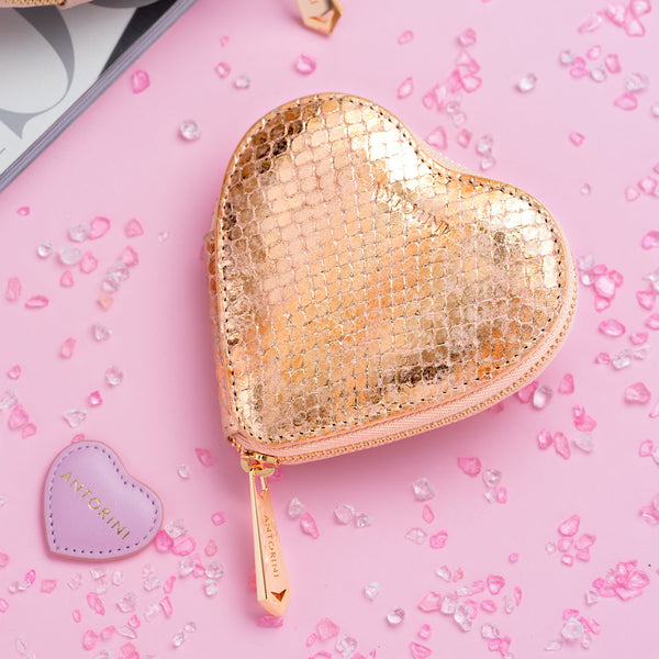 Heart Coin Purse in Gold