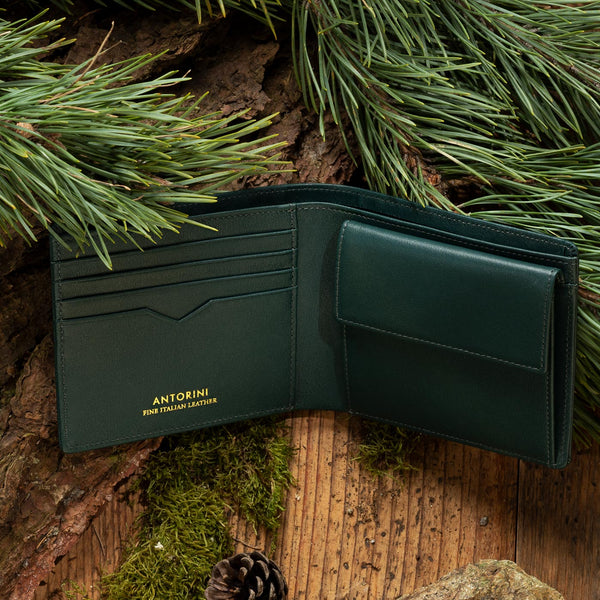 Men's leather wallet ANTORINI Nature Collection, Green-ANTORINI®