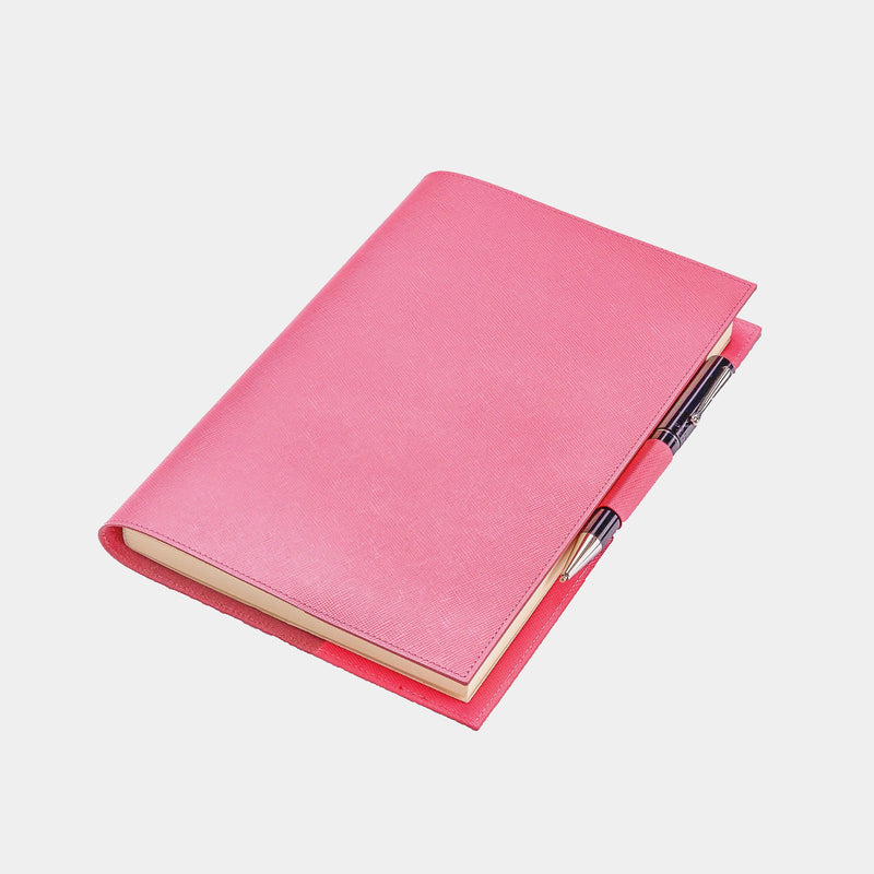 Leather Refillable Diary in Pink Saffiano-ANTORINI®