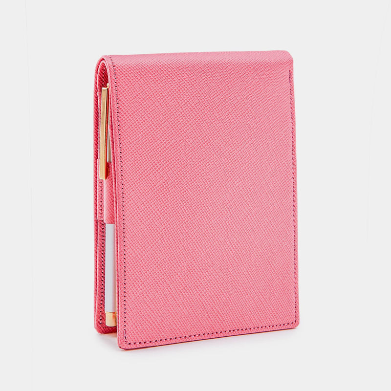 Pocket Memo Pad in Pink Saffiano-ANTORINI®