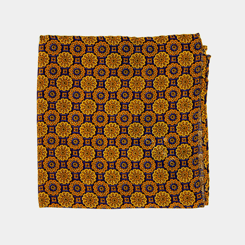 Vintage Pocket Square in Yellow-ANTORINI®