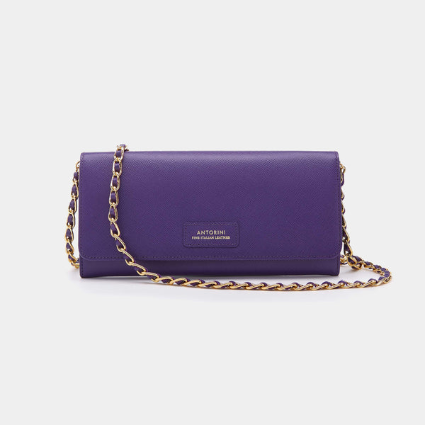 Luxurious Concetta Wallet in Purple Saffiano-ANTORINI®
