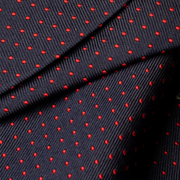 Face Mask Silk Cotton, Blue with Red Dots-ANTORINI®